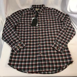 BERETTA LUA10 Flannel Button Men Shirt Size XL